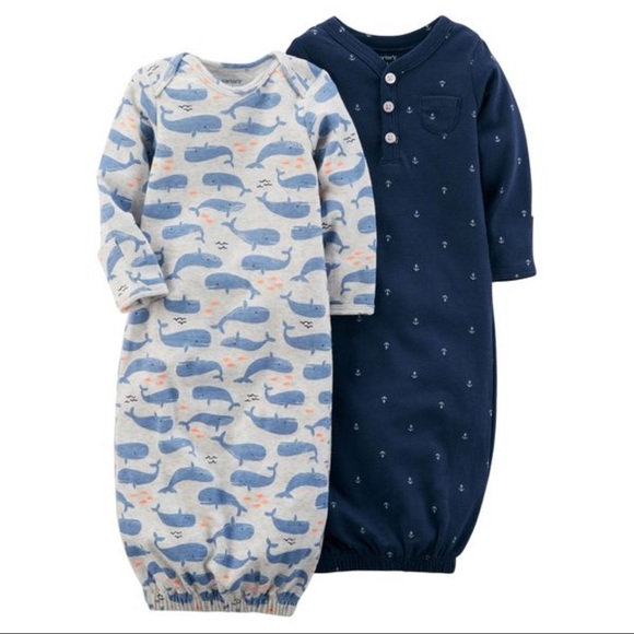 4c44c963a Carter's Other - 🆕 Baby Boy Carter's Whale & Anchor Sleeper Gowns